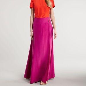 Tory Burch Kathleen Maxi Silk Skirt